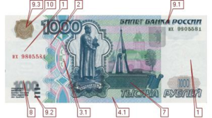 1000 руб 2001