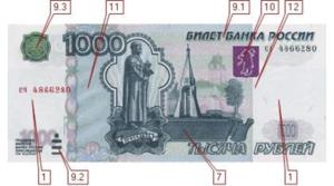 1000 рублей 2004