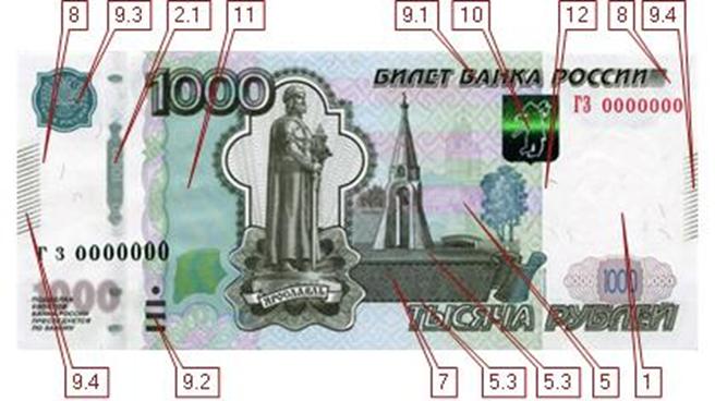 1000 рублей 2010