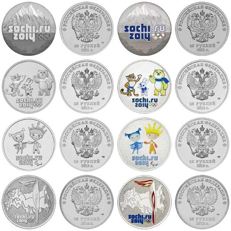 виды монет сочи